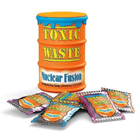 Orange Nuclear Fusion Toxic Waste Candy Barrel Drum - Sour Sweets 42g